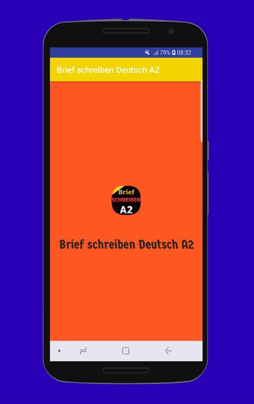 Brief Schreiben Deutsch A2 For Android Apk Download