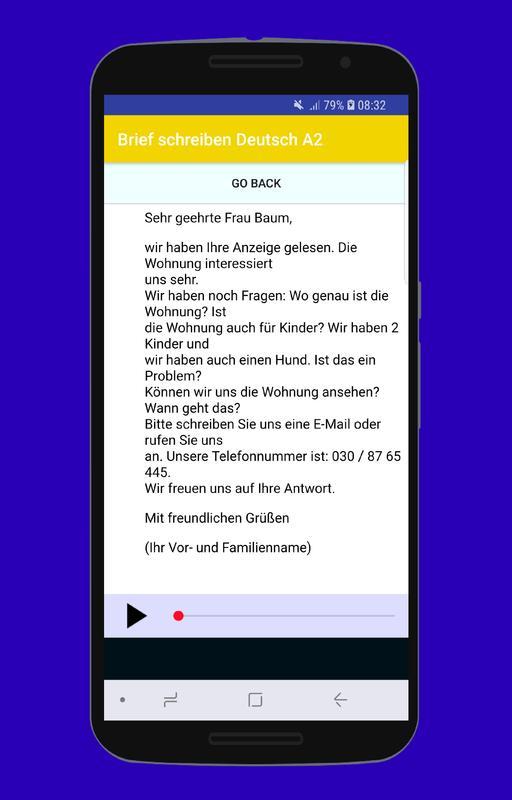 Brief Schreiben Deutsch A2 For Android Apk Download