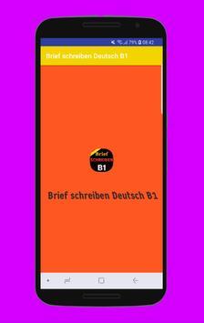 Brief schreiben Deutsch B1 poster