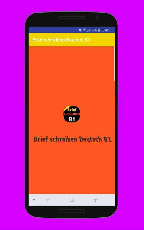 Brief Schreiben Deutsch B1 For Android Apk Download