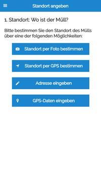 MÜLLweg! DE - Wilde Müllkippen und Müll melden! screenshot 1
