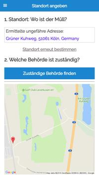 MÜLLweg! DE - Wilde Müllkippen und Müll melden! screenshot 2