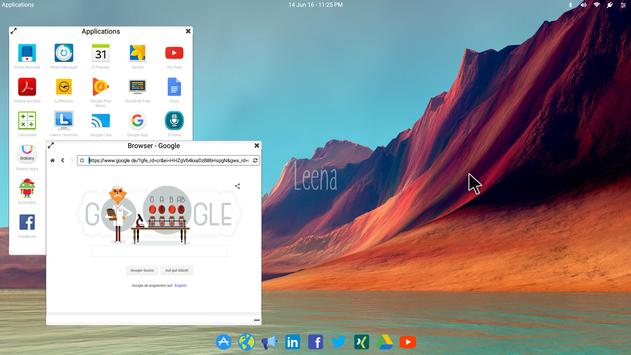 Leena Desktop UI (Multiwindow) screenshot 1