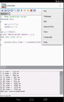 VisiScript Text Editor apk screenshot