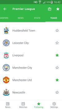 Onefootball captura de pantalla 5