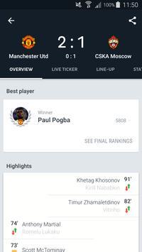 Onefootball captura de pantalla 3