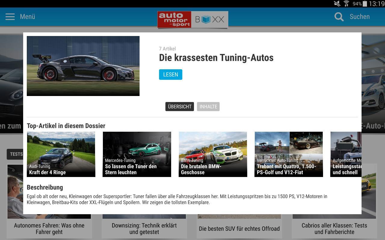 auto motor und sport - BOXX APK تحميل - مجاني الأخبار والمجلات تطبيق ...