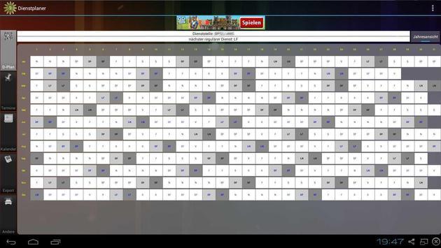 Shift planner screenshot 5