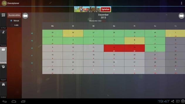 Shift planner apk screenshot