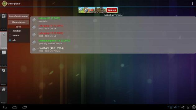 Shift planner screenshot 7