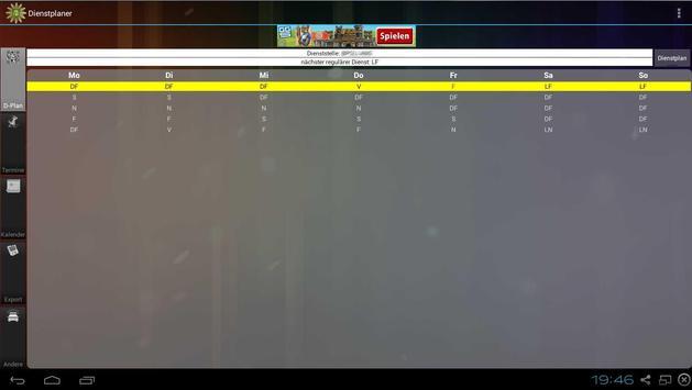 Shift planner screenshot 8
