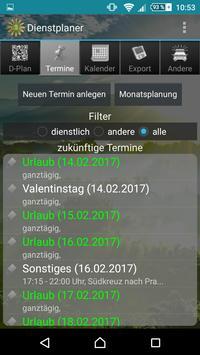 Shift planner screenshot 1