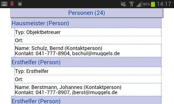 Notfallmanagement und Vorsorge apk screenshot
