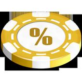 Texas Holdem odds calculator icon