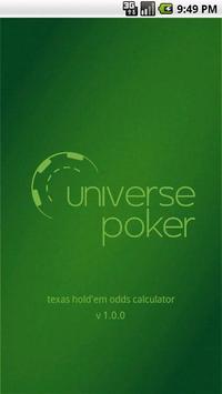 Texas Holdem odds calculator poster