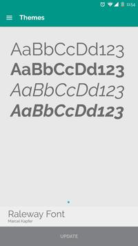Raleway Font [Cyanogenmod] poster