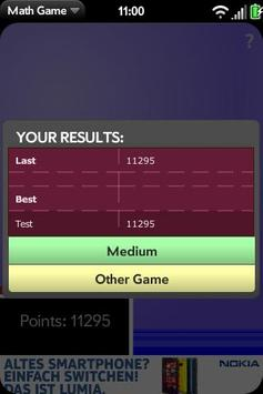 Math Game apk screenshot