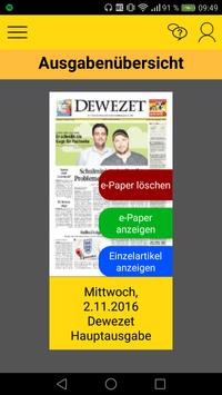 Dewezet e-Paper poster