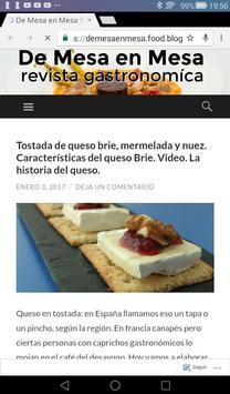 DE MESA EN MESA-REVISTA GASTRO screenshot 1