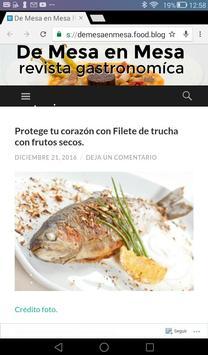 DE MESA EN MESA-REVISTA GASTRO screenshot 2