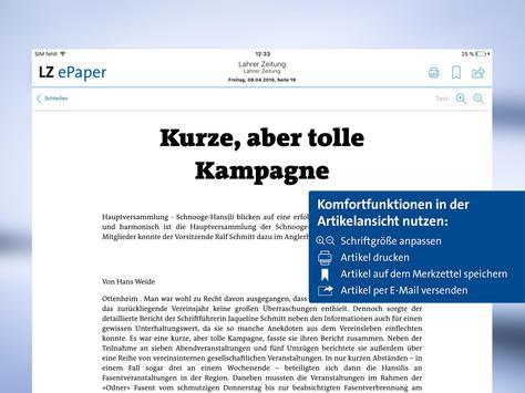 Lahrer Zeitung ePaper apk screenshot