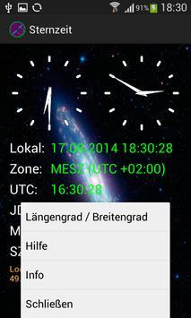 Astronomie Sternzeit apk screenshot