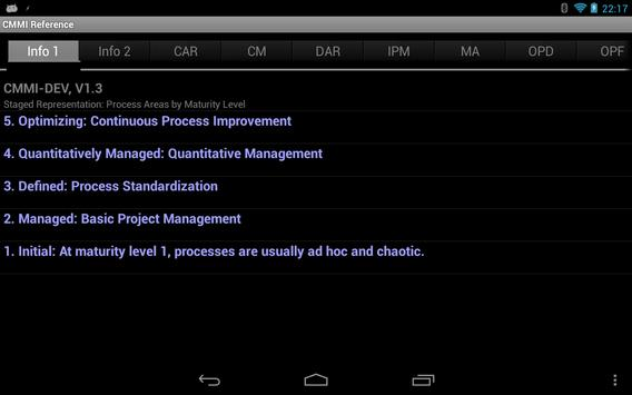 CMMI Reference apk screenshot