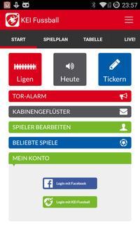 KEI Fussball LiveTicker poster