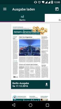nd-App: neues deutschland poster