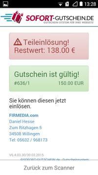 SOFORT-Gutschein QR-Scanner screenshot 2