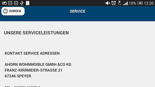 Ahorn Wohnmobile GmbH & Co KG apk screenshot
