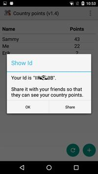Country points screenshot 2