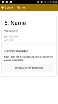 Scavenger Hunt DE apk screenshot