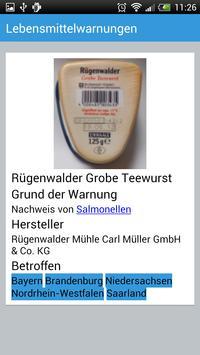 Lebensmittelwarnungen apk screenshot