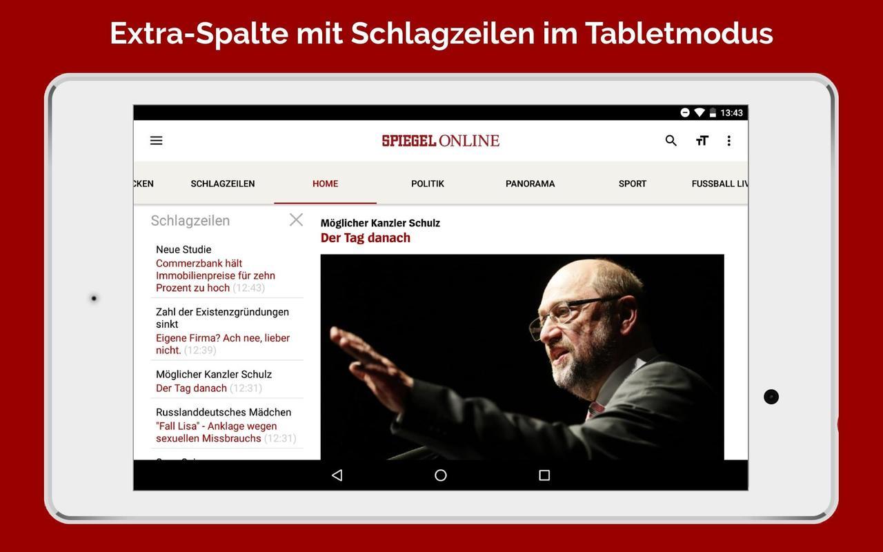 Spiegel online nachrichten apk baixar gr tis not cias for Spiegel zeitung