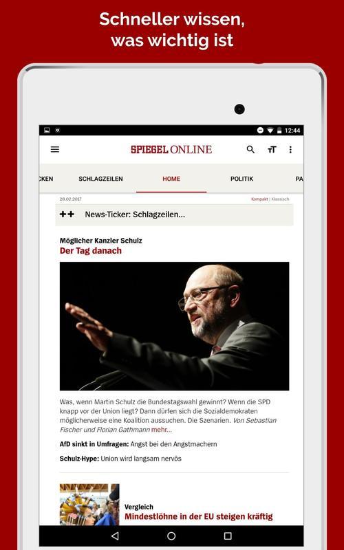 Spiegel online nachrichten apk baixar gr tis not cias for Spiegel app android