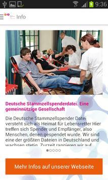 Deutsche Stammzellspenderdatei screenshot 1