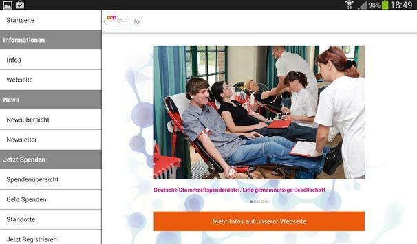 Deutsche Stammzellspenderdatei screenshot 8