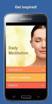 Poster Meditation des Tages