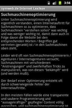 Internet-Lexikon von symweb.de apk screenshot