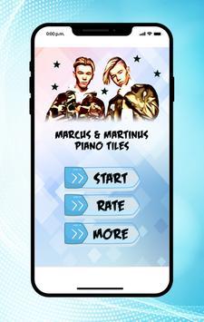 Marcus & Martinus Piano Tiles poster