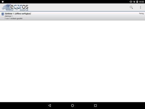ecaros Inventur screenshot 1