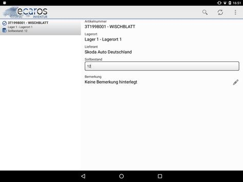 ecaros Inventur apk screenshot