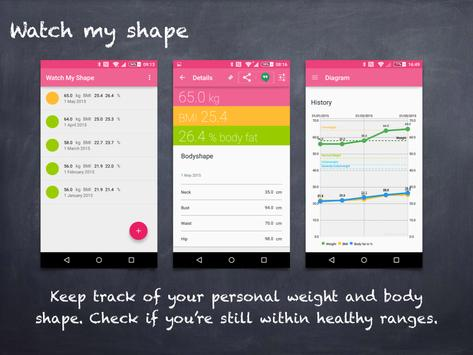 Watch My Shape (BMI) apk screenshot