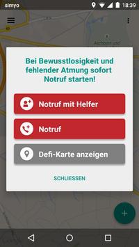 Rot Kreuz Defi und Notruf App Screenshot 3