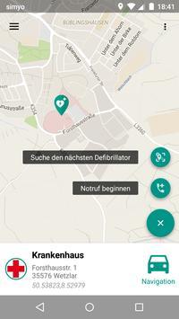 Rot Kreuz Defi und Notruf App Screenshot 1