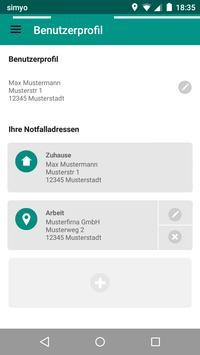 Rot Kreuz Defi und Notruf App Screenshot 5