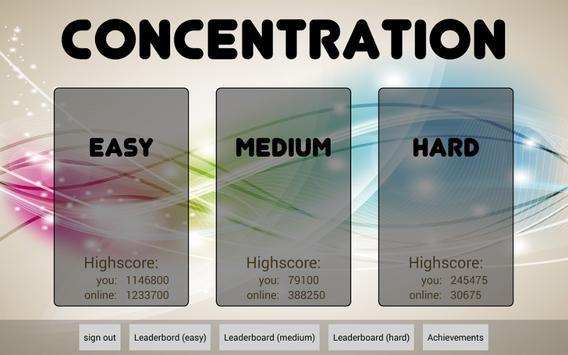 Concentration apk screenshot