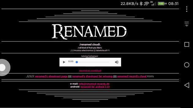 Renamed Records Radio poster
