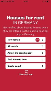 Housing rentals in Germany poster